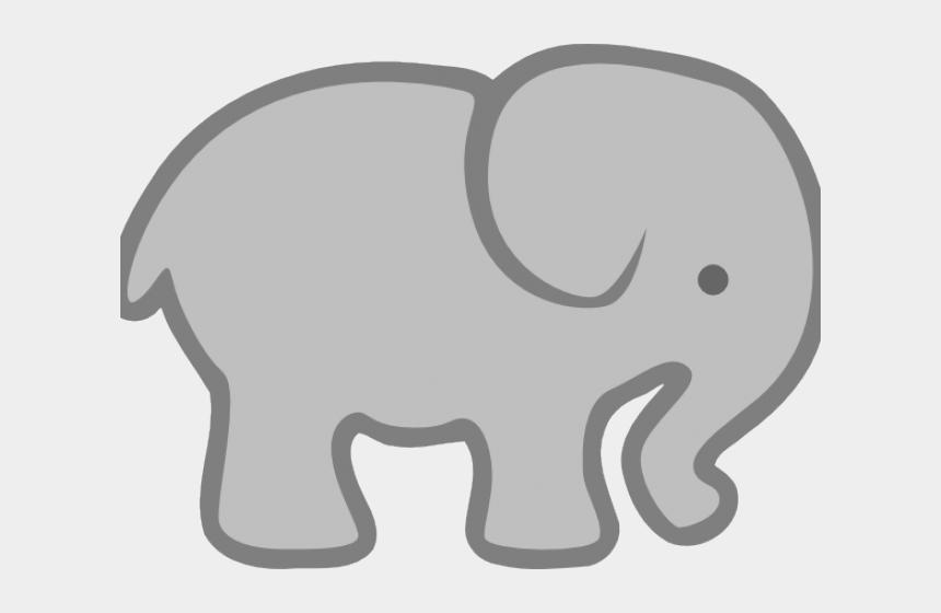grey baby elephant clipart, Cartoons - Big As An Elephant