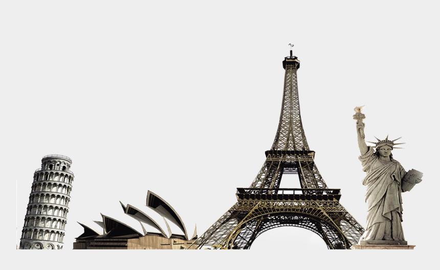 landmarks clipart, Cartoons - World Tourist Sights - Tourist Place Png
