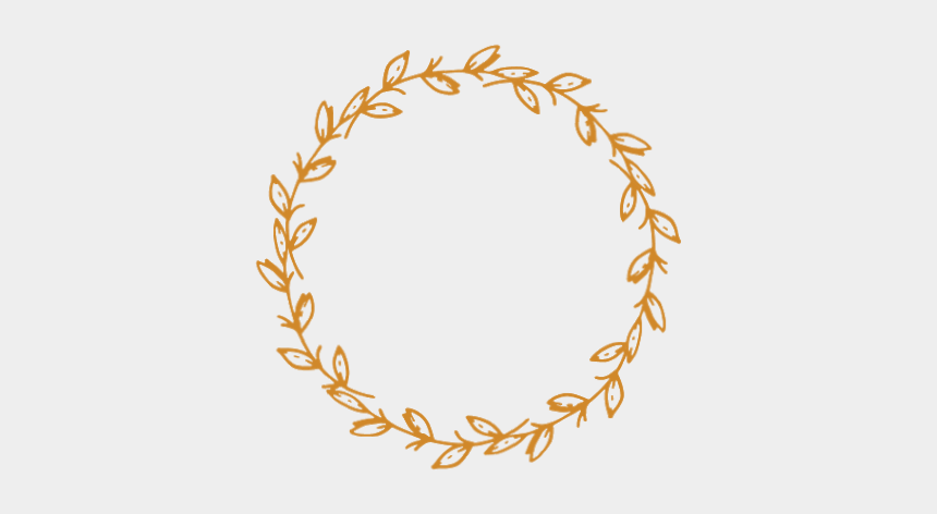 gold wreath clipart, Cartoons - #flowers #leaves #gold #vinesandleaves #wreath #border - Circle