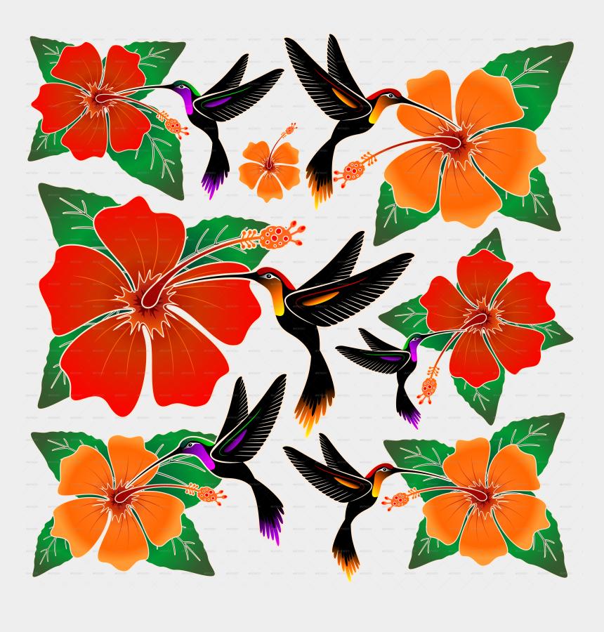 hummingbirds and flowers clipart, Cartoons - Hummingbird And Hibiscus-jpg - Gambar Batik Flora Fauna