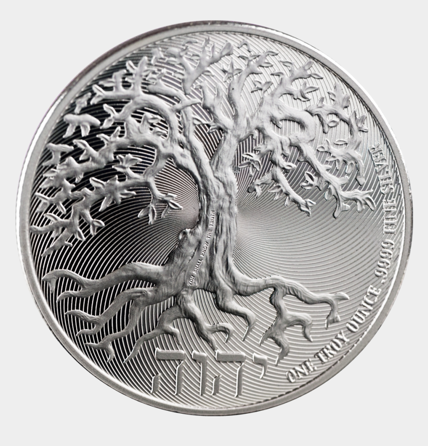 "silver coin clipart, Cartoons - Meet ""the Tree Of Life,"" An Ira-eligible Silver Coin - Tree Of Life Silver Coin"