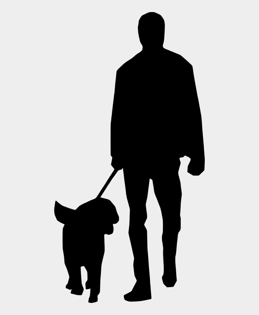 people clipart silhouette walking, Cartoons - Man Dog Silhouette - Man And Dog Silhouette