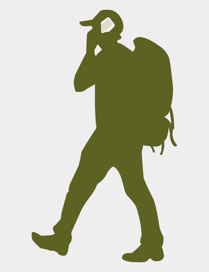 people clipart silhouette walking, Cartoons - Man Silhouette Clip Art - Backpacker Silhouette Free