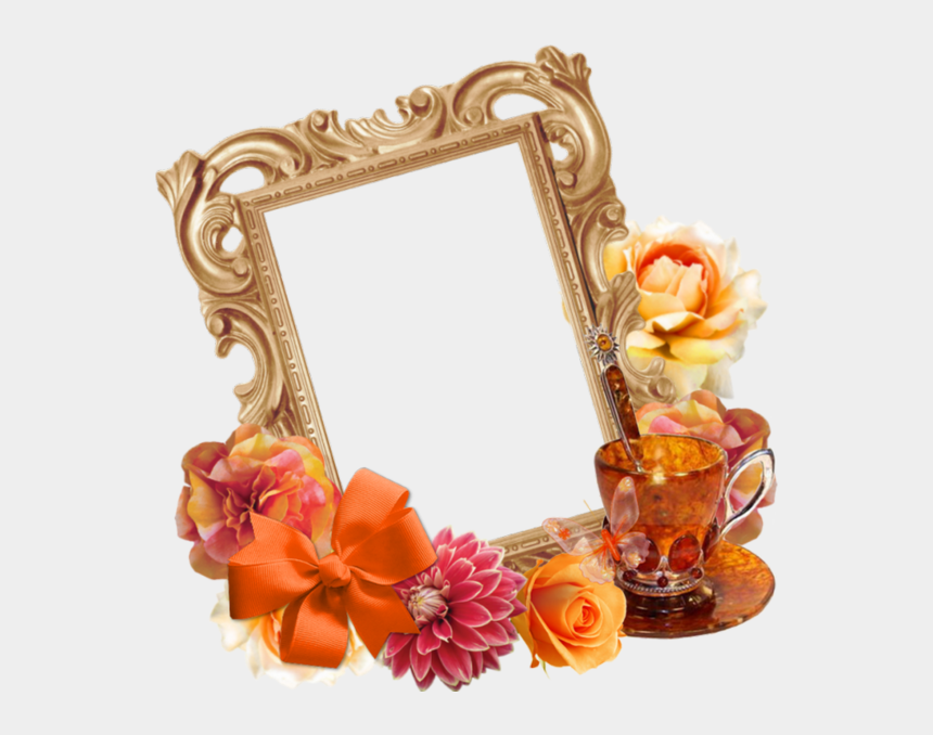 reality clipart, Cartoons - Picture Frame Flower Mirror Png Image High Quality - Portable Network Graphics