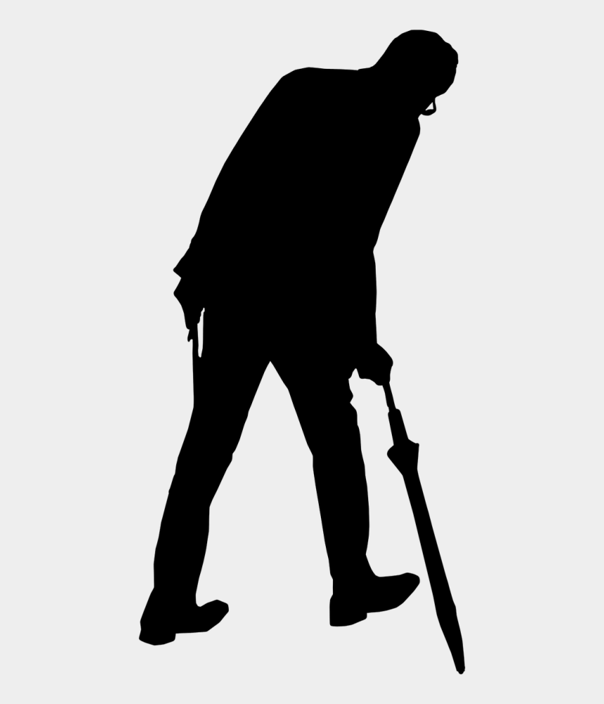 man in underwear clipart, Cartoons - Man Old Umbrella - Old Man Catching Umbrella
