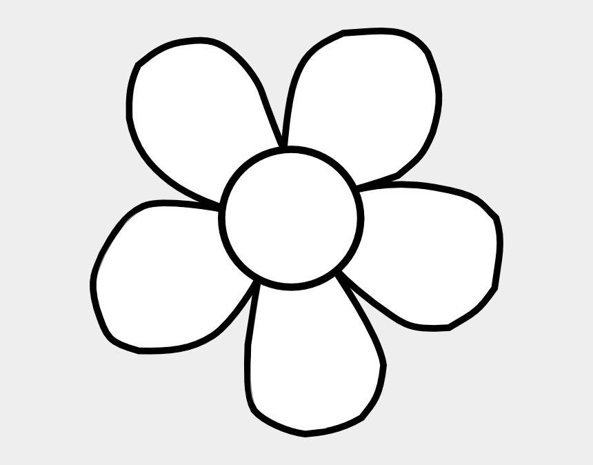 clipart flowers outline, Cartoons - Flower Outline Free Clipart - Sunflower Clipart Images Black And White