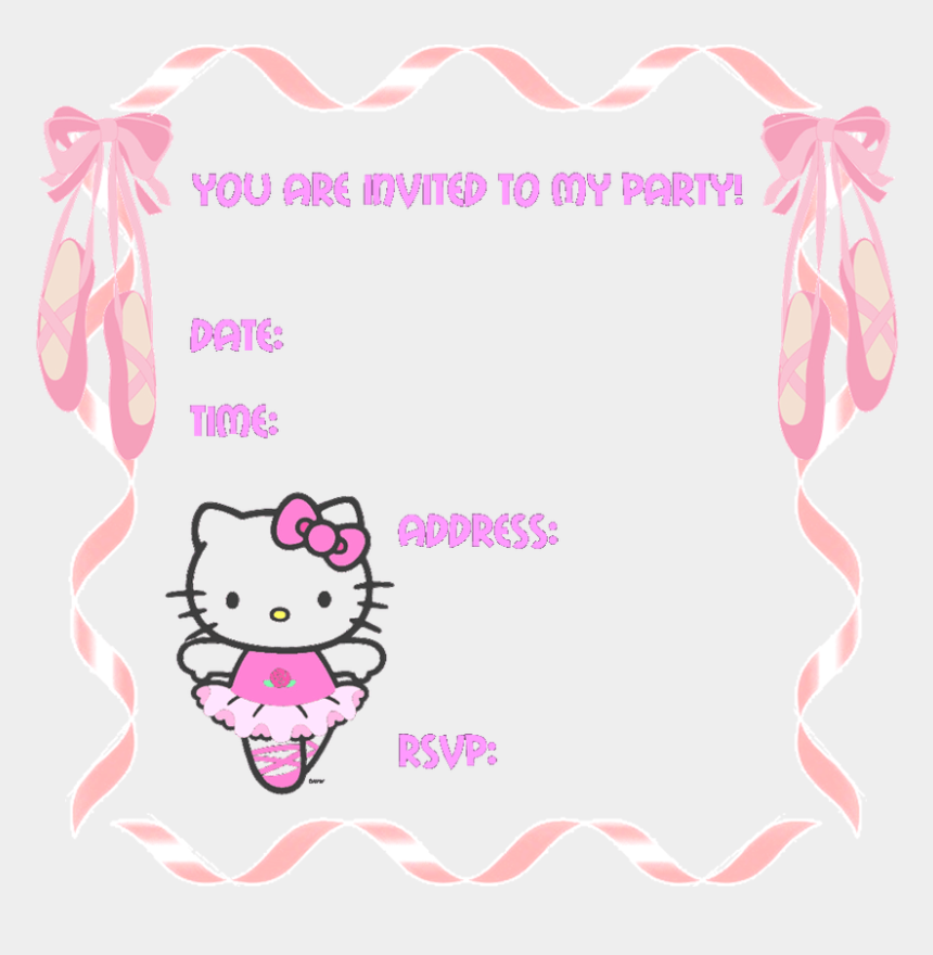 you're invited birthday clipart, Cartoons - Free Hello Kitty Birthday Invitations Hello Kitty Birthday - Free Birthday Invitation Templates Hello Kitty
