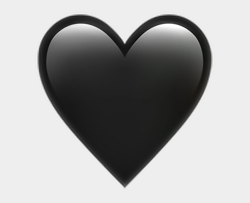 don't forget clipart black and white, Cartoons - •black Heart Emoji 🖤 - Heart Iphone Emoji Png