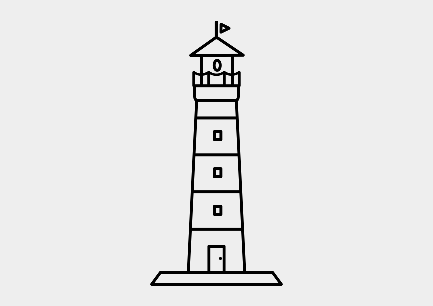 nautical flags clipart, Cartoons - Lighthouse Rubber Stamp - Tower