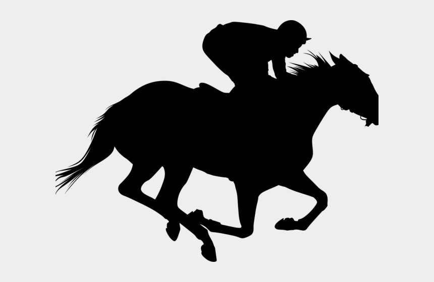 horses racing clipart, Cartoons - Horse Racing Clipart - Horse Race Silhouette Png