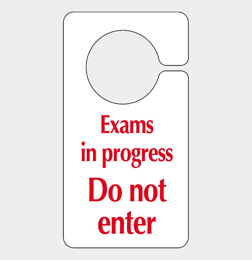 do not disturb clipart, Cartoons - Exams In Progress Do Not Enter Hook On The Door Sign - Cleaning In Progress Door Signs