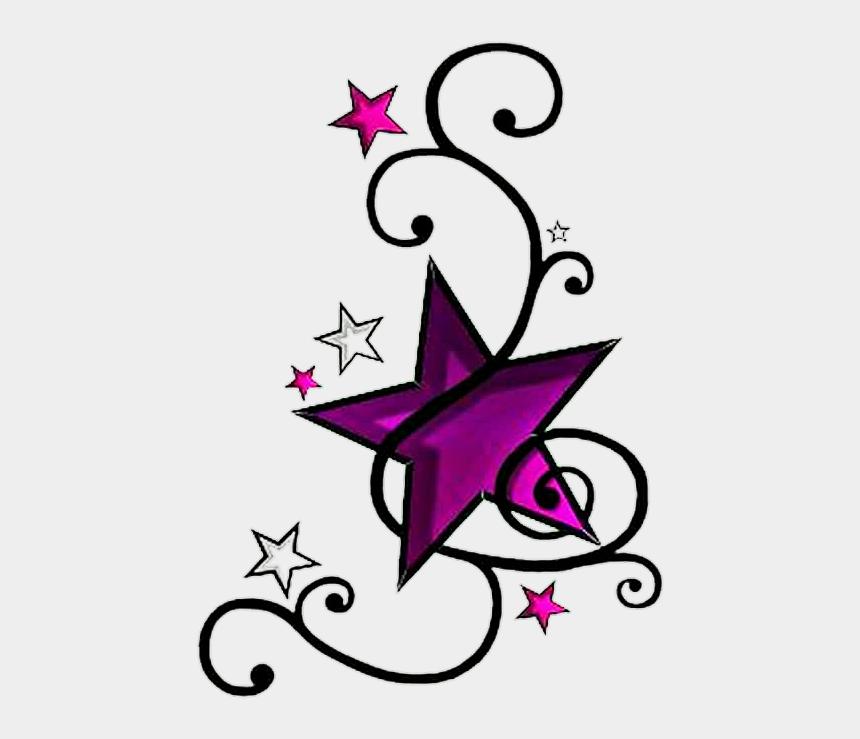 star tattoo clipart, Cartoons - #stars #star #tattoo #purple #black #vines #sticker - Simple Tattoos Designs Star