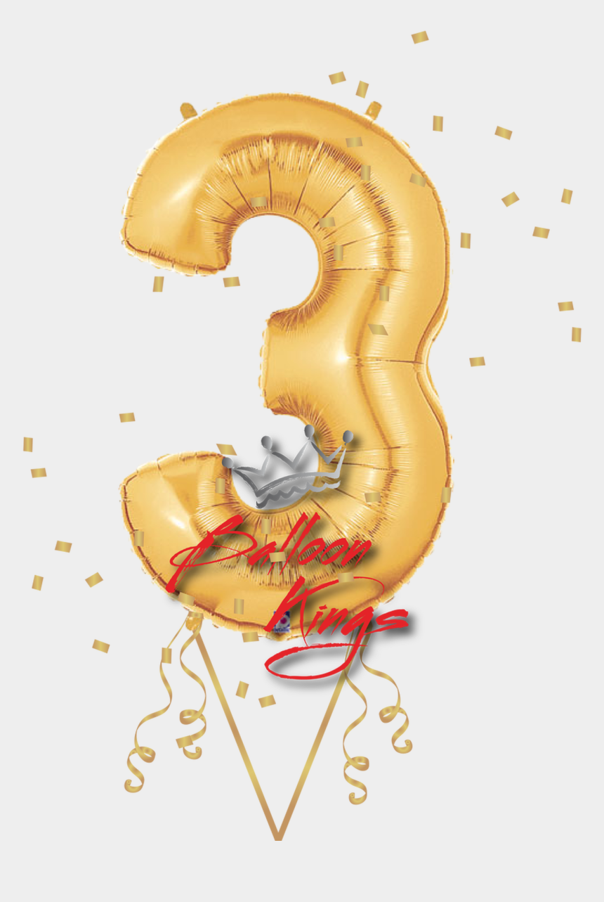balloon letters clipart, Cartoons - Gold Number - Foil Balloon Letters And Numbers