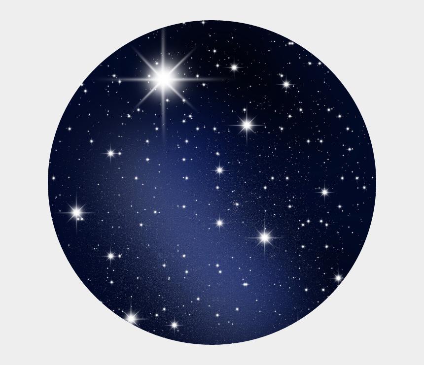 stars in sky clipart, Cartoons - Aestheticcircle Blue Darkblue Stars Nightsky Ⓒ - Shining Star Wallpaper Hd