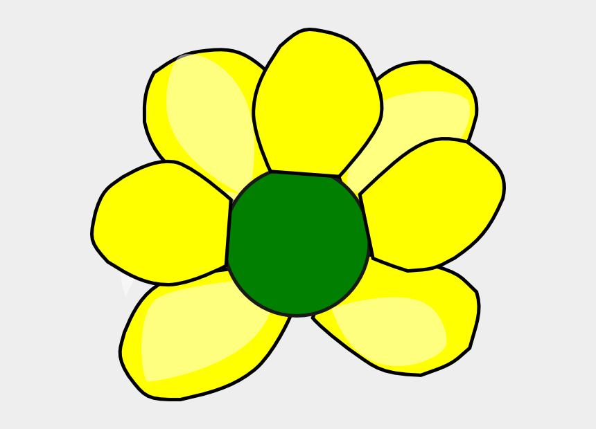 free clipart yellow flowers, Cartoons - This Free Clip Arts Design Of Yellow Flower 2 - Circle Small Yellow Flowers Png