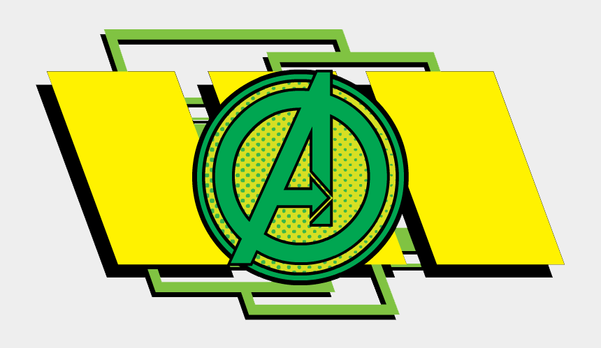 the avengers clipart, Cartoons - Earth&mightiest Heroes Clipart - Avengers Green Logo Png