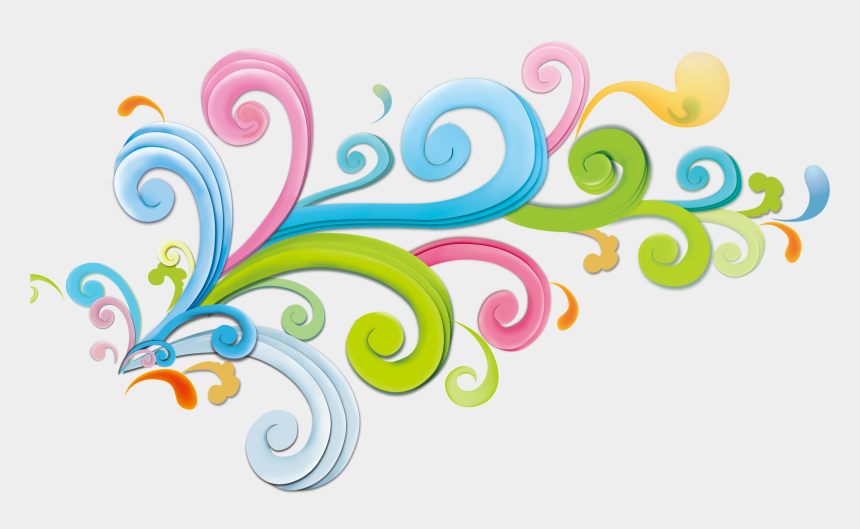 curly design clipart, Cartoons - Decorative Clipart Curly - Creative Graphics Design Background