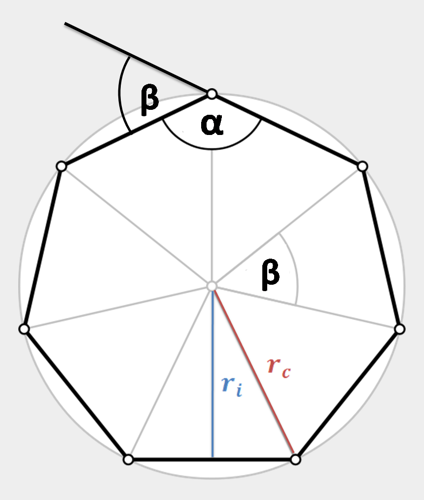 heptagon clipart, Cartoons - Read More About Polygon Perimeter In The Perimeter - Inscribe A Regular Heptagon In A Circle