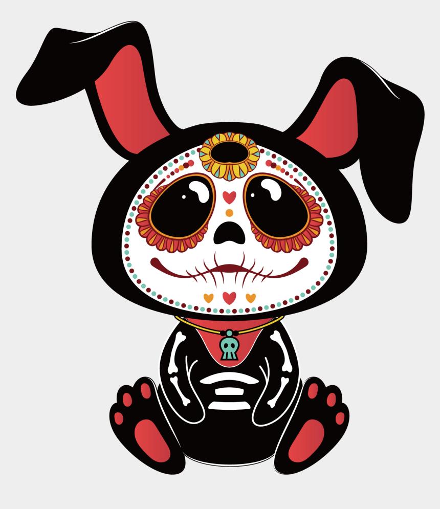 el dia de los muertos clipart, Cartoons - Altar Flowers Clipart - Day Of The Dead Bunny