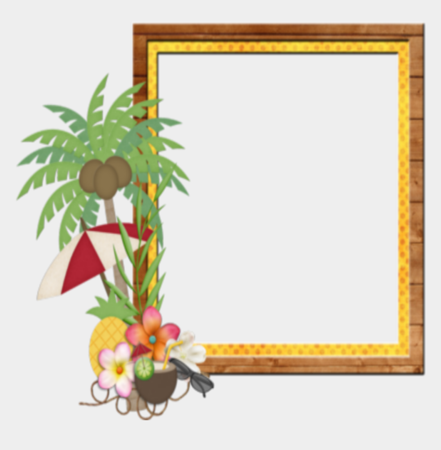 beach frame clipart, Cartoons - #mq #palm #beach #frame #frames #border #borders - Beach Frames