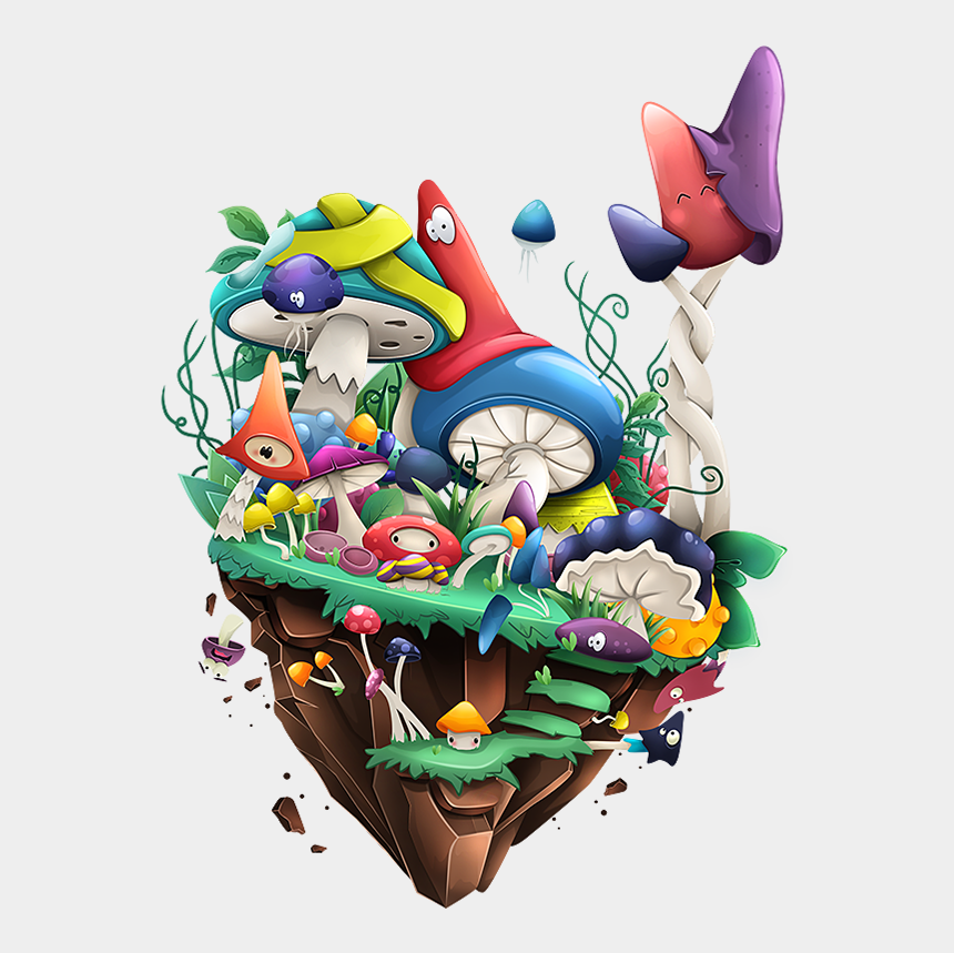 floating island clipart, Cartoons - Skymath Floating Islands On Behance - Drawing