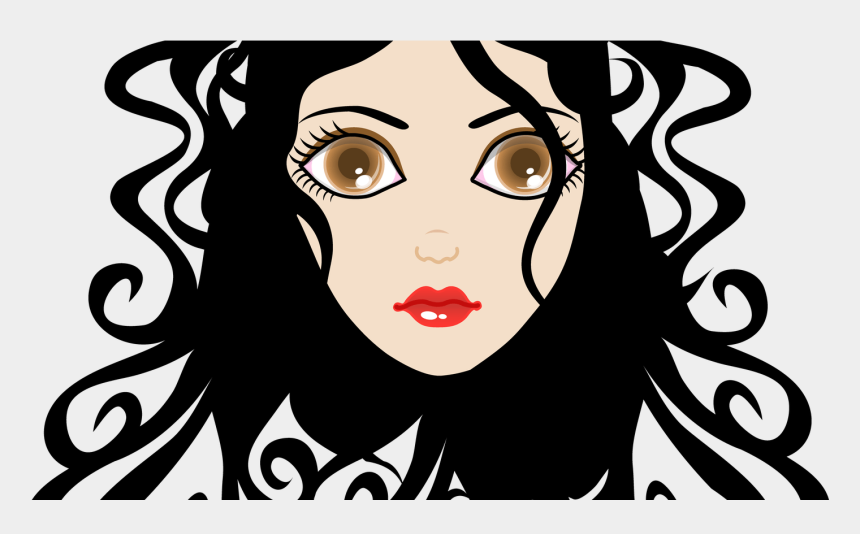 beauty face clipart, Cartoons - Queen 20clipart 20black 20beauty Beautiful Fotosearch - Curly Hair Girl Chibi Drawing