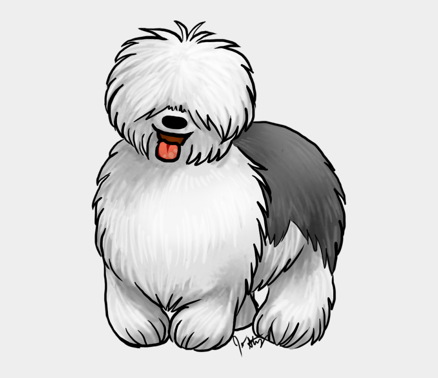 old english sheepdog clipart, Cartoons - Jen's Dogs The Breed This Month Is The Old English - Old English Sheep Dog Cartoon