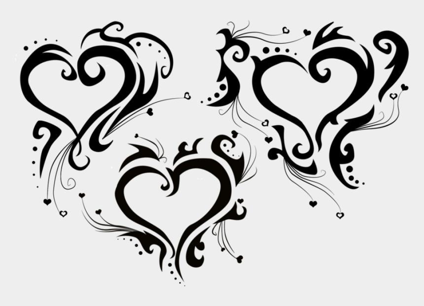 tribal heart clipart, Cartoons - Tribal - Tribal Heart Tattoo Png