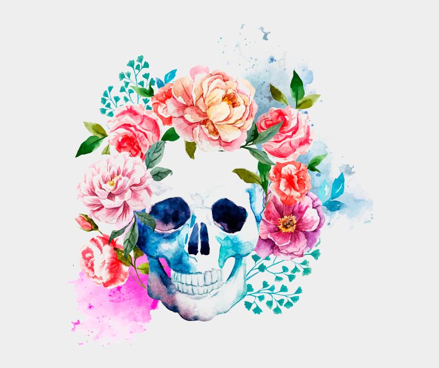 calavera clipart, Cartoons - Calavera Catrina La Skull Mexico Free Transparent Image - Flora Skull
