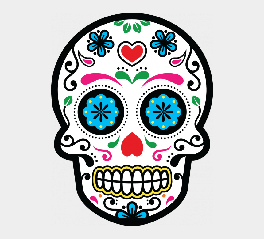 calavera clipart, Cartoons - Tete De Mort Mexicaine - Dia De Los Muertos Icon
