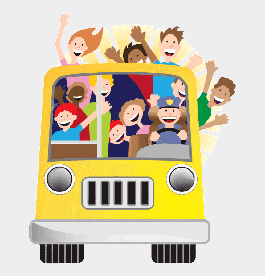 tourist family clipart, Cartoons - Family Tour Free Clipart - Bus With People Cartoon