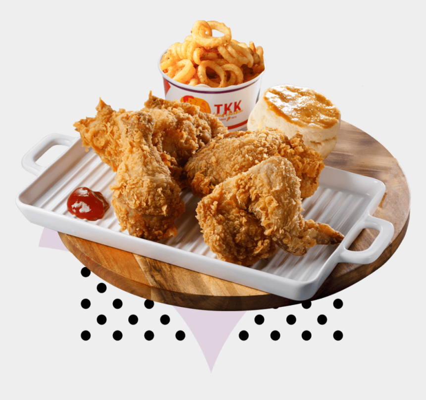 chicken strips clipart, Cartoons - 4 Pieces Chicken Large - Crispy Fried Chicken