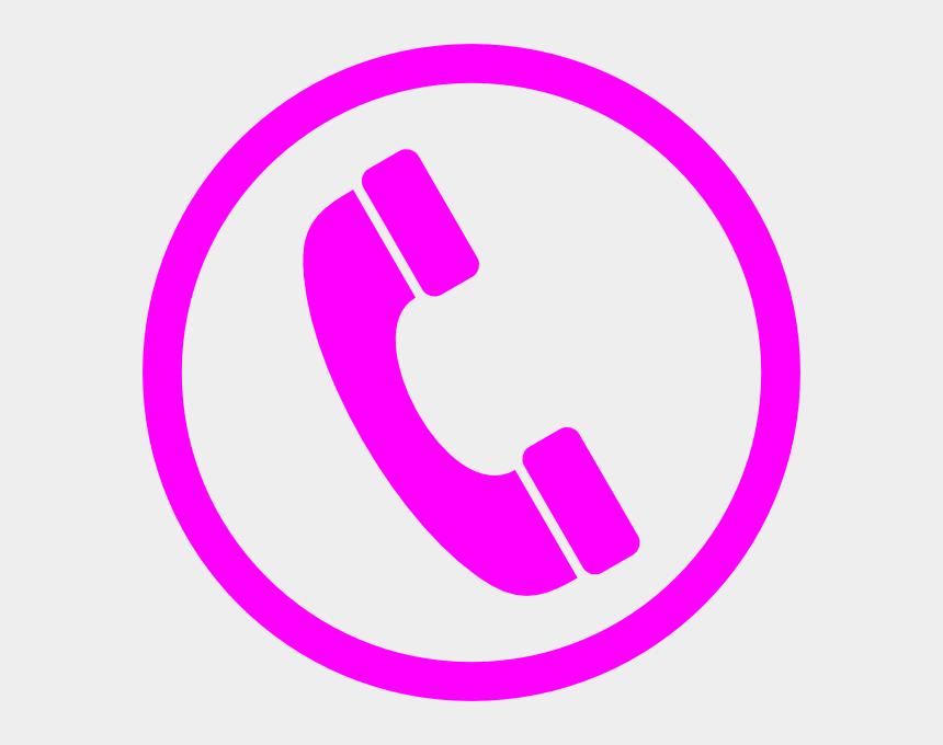 telephone handset clipart, Cartoons - Telephone Magenta Clip Art - Phone Icon