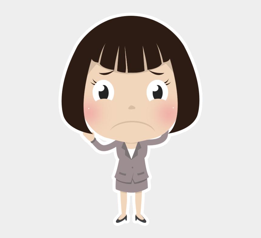 sad lonely girl clipart, Cartoons - Sad Girl Clipart - Sad Girl Png Cartoon
