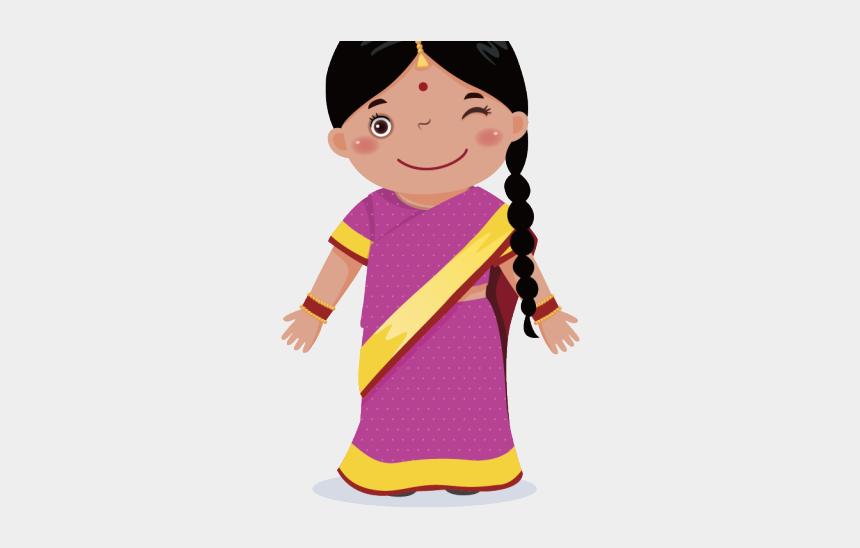 sad lonely girl clipart, Cartoons - India Clipart Baby Girl - Niña De La India Animada