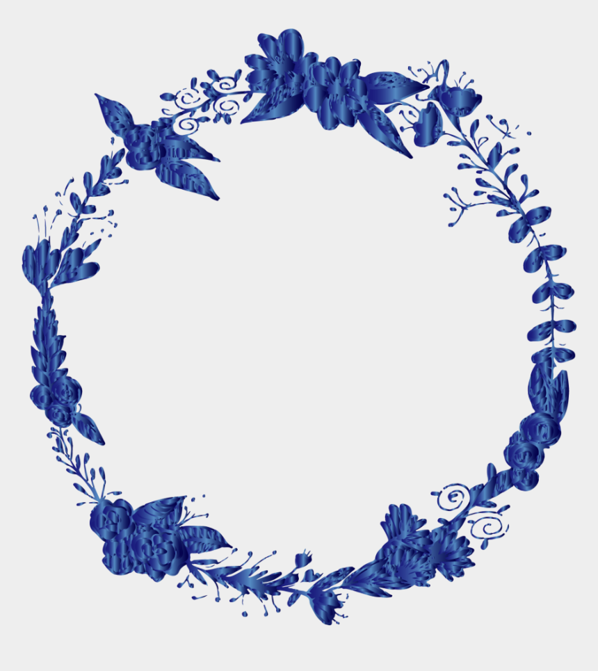 flower circle clipart, Cartoons - #mq #blue #flowers #flower #ring #circle - Blue Wreath Png