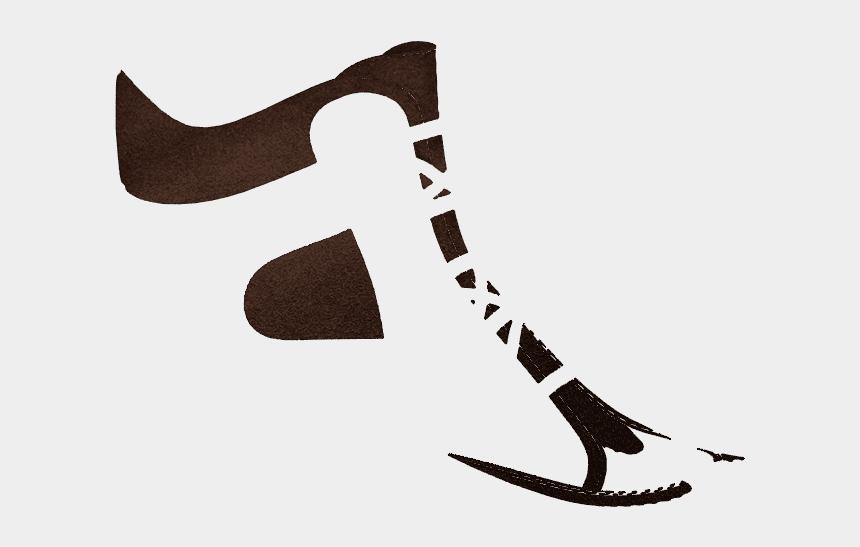 ski poles clipart, Cartoons - P1654 Brown Split Suede - Figure Skate