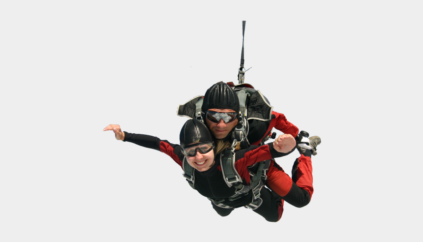 skydiver clipart, Cartoons - Parachute Clipart Tandem Skydive - Extreme Sport