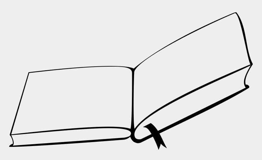 line of books clipart, Cartoons - Open Book From Above - Open Book Clip Art