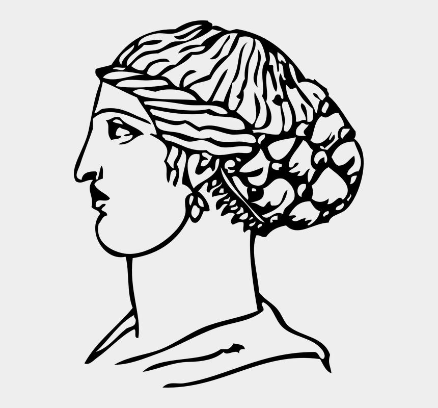 greek statue clipart, Cartoons - Hair, Hairdressing, Head, Greece - Ancient Greek Art Clipart Black And White