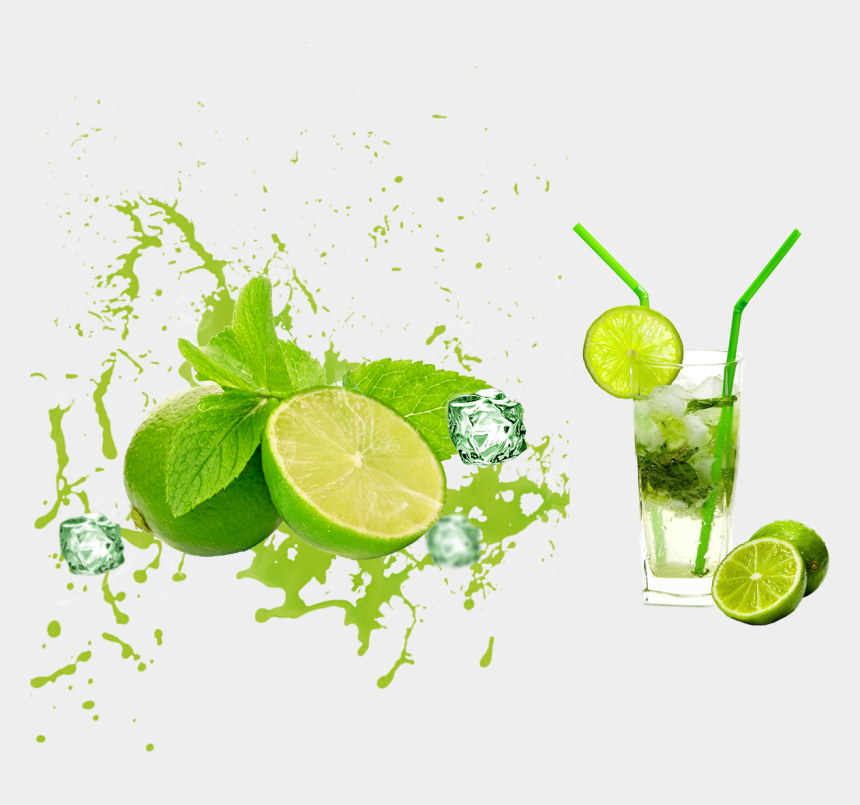 mojito clipart, Cartoons - Limon Vector Orange Pulp - Lemon Green Juice Png