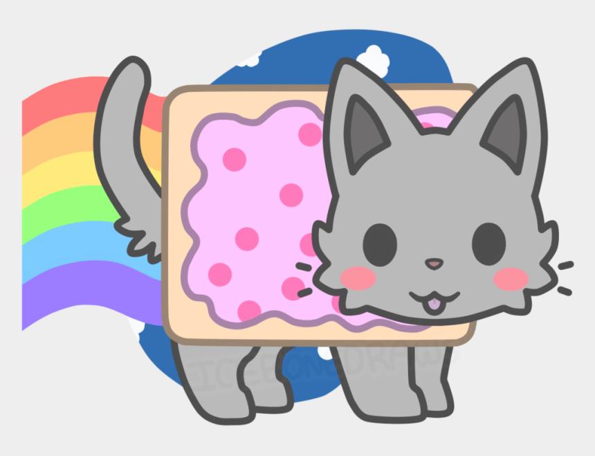 kawaii cat clipart, Cartoons - Donut Kawaii Nyan Cat - Chibi Nyan Cat