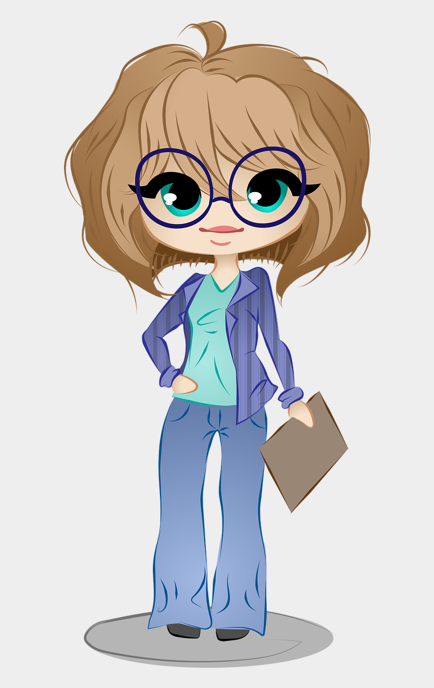 information management clipart, Cartoons - And Information Management Transparency Business Stock - Cartoon Characters Female Png
