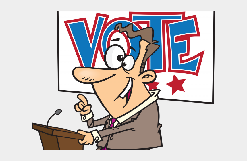 voting machine clipart, Cartoons - Vote Clipart Class President - Politician Clipart