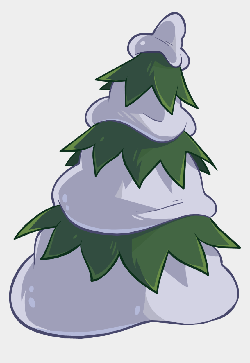 snowy christmas tree clipart, Cartoons - Snow Pine Png - Club Penguin Tree Png