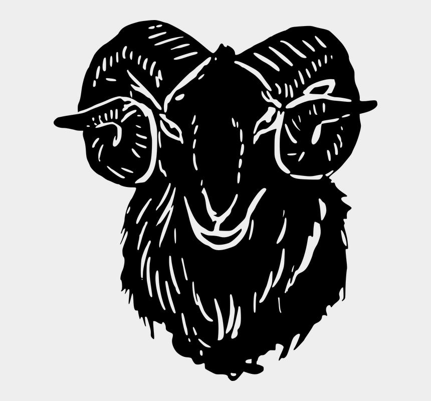 goat skull clipart, Cartoons - Animal Goat Head Mammal Silhouette - Kepala Domba Animasi