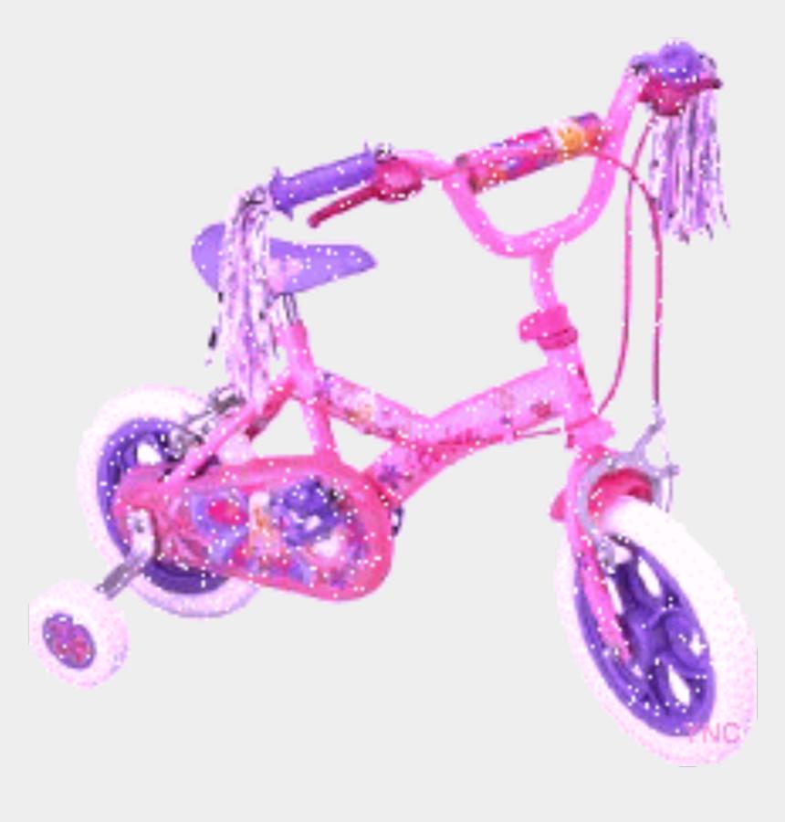 bike with training wheels clipart, Cartoons - #barbie #bike #pink - Tricycle