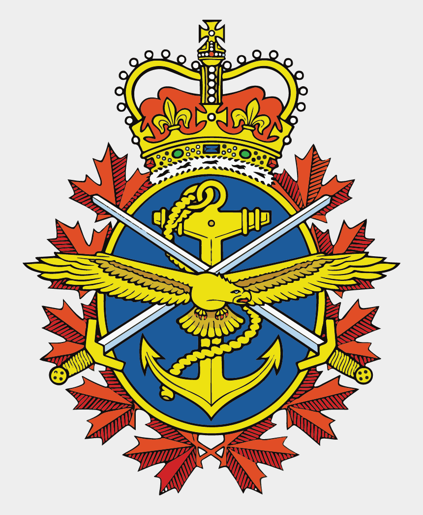 armed forces emblems clipart, Cartoons - Badge Of The Canadian Armed Forces - Canadian Armed Forces Logo