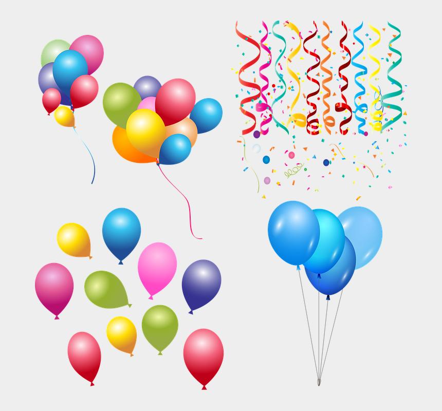 balloon and confetti clipart, Cartoons - Balloons, Confetti, Celebration, Birthday, Fun - Confetti Celebration