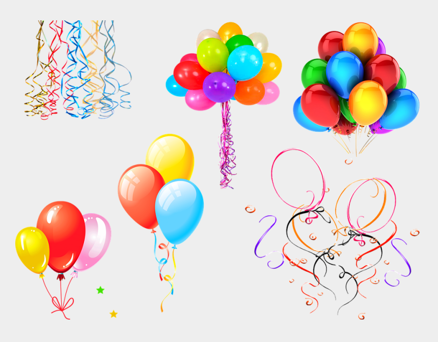 balloon and confetti clipart, Cartoons - Rainbow Color Balloons Confetti Balloons - Product From Natural Rubber